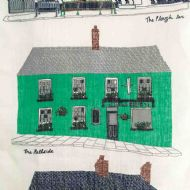 Danielle Morgan 'Hillsborough Pubs' Tea Towel
